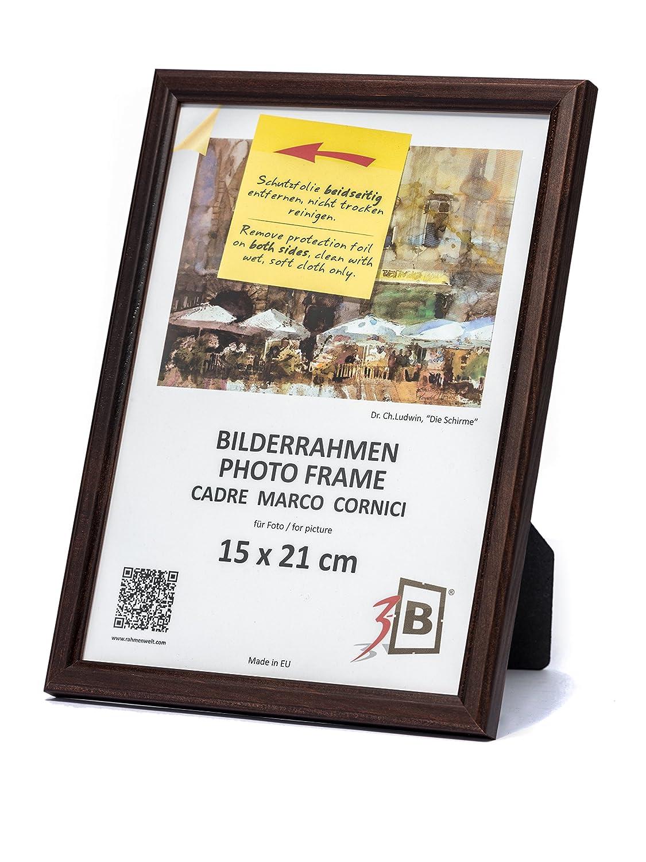 3-B Set 3 Stk. - Bilderrahmen Jena - dunkel braun - 15x21 cm (A5 ...