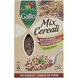 Riso Gallo Mix Cereali Riso Integrale, Riso Rosso e Quinoa Rossa - Confezione da 400 gr