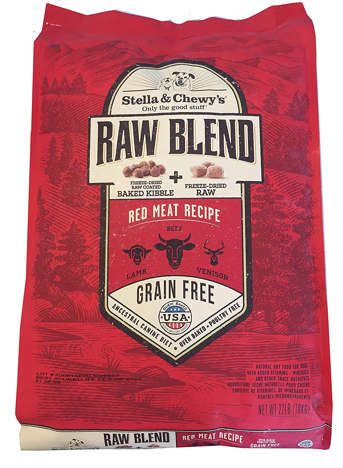 Stella & Chewy'S Raw Blend Red Meat Dog Food 22Lb