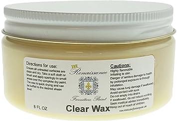 furniture wax. renaissance furniture wax 8oz - clear r