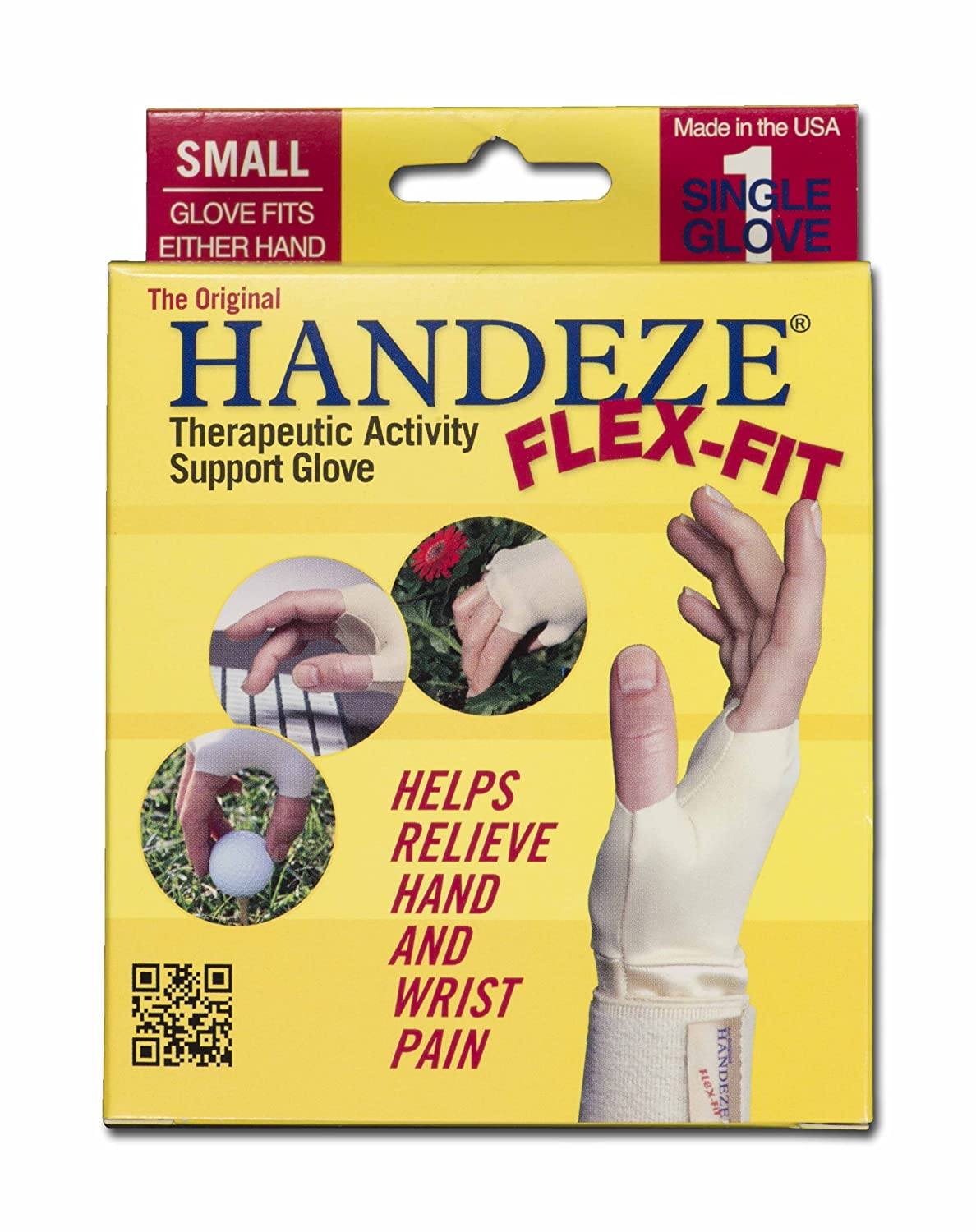 DOME Handeze Therapeutic Gloves, Flex-Fit, Small, Size 3 small. 13533