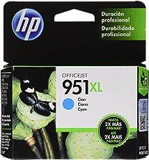 HP Cartucho Original de Tinta Cian de Alto Rendimiento 951XL (CN046AL)