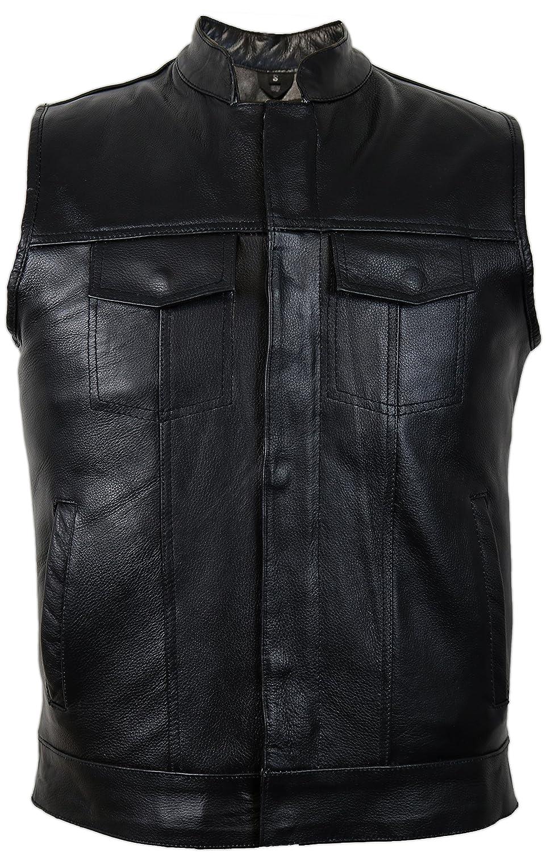 MDM Jeans Lederweste aus echtem Rindsleder (XL) MDM9029 XL