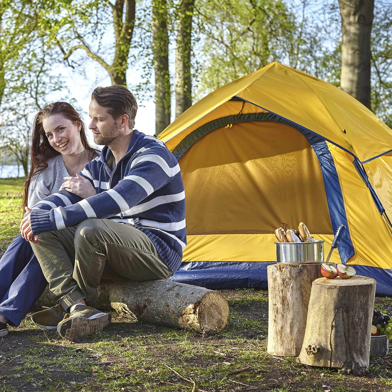 Lumaland Tienda de campaña Outdoor Light Pop Up Ligera para 3 Personas Camping Acampada Festival 210 x 190 x 110 cm Amarillo