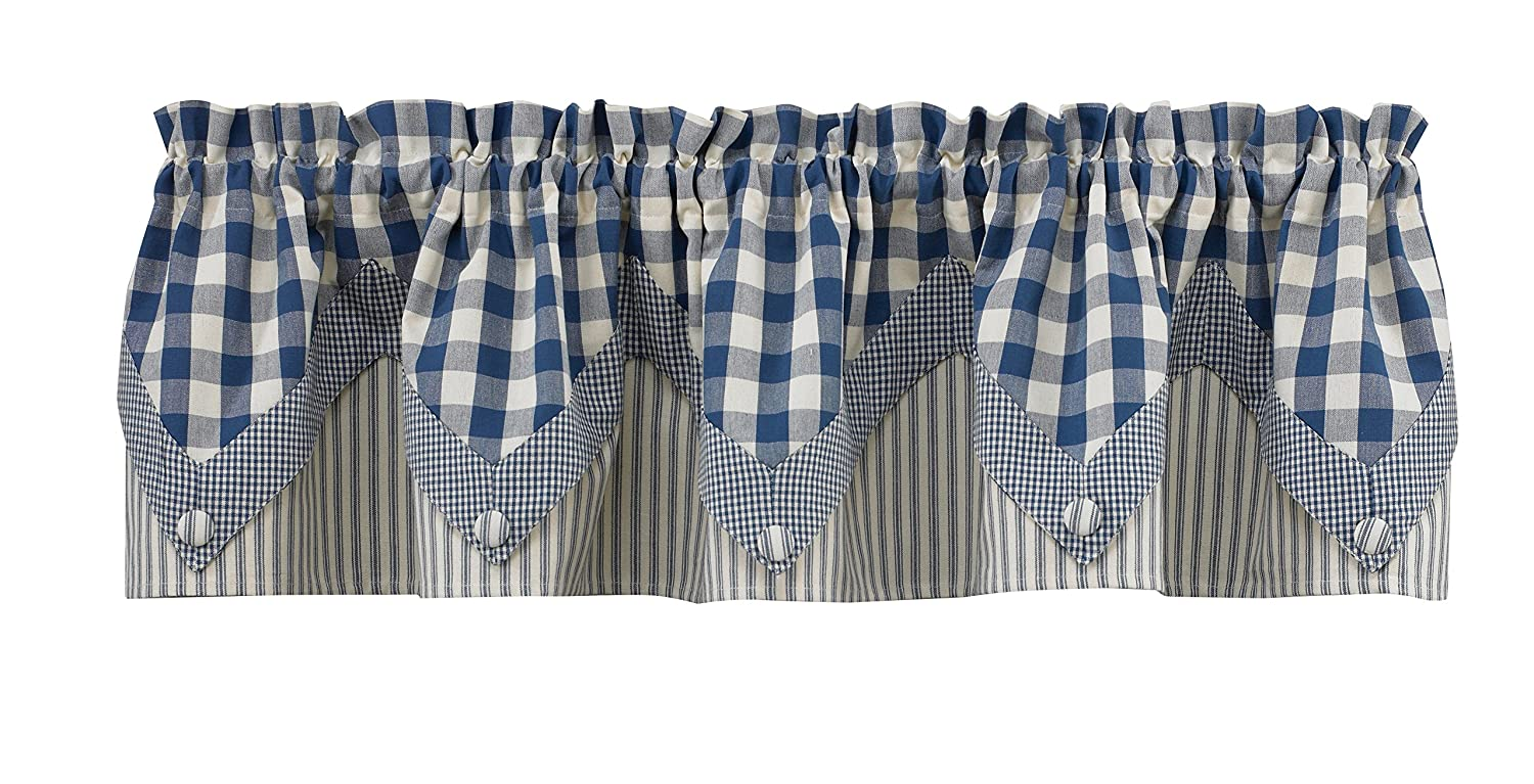 Park Designs York Curtain Valance, 72-Inch by 14-Inch, Blue 405-47G