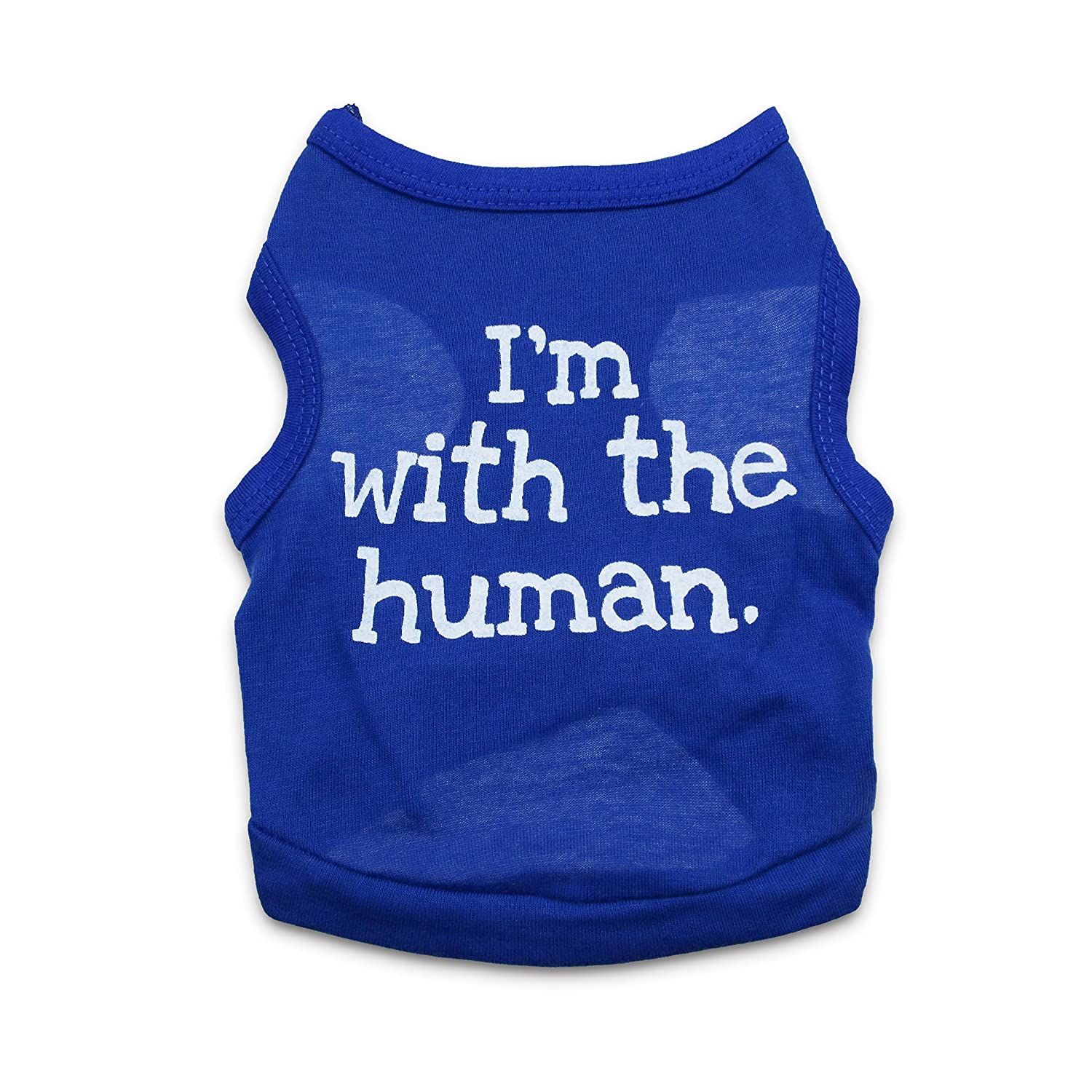 「I'm with the human」Cute Summer Vest