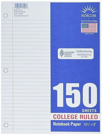 Norcom College Ruled Notbook Paper