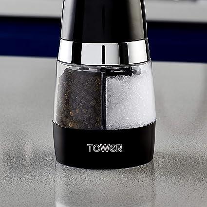 Tower T847004B Duo Molinillo de sal y pimienta el/éctrico.