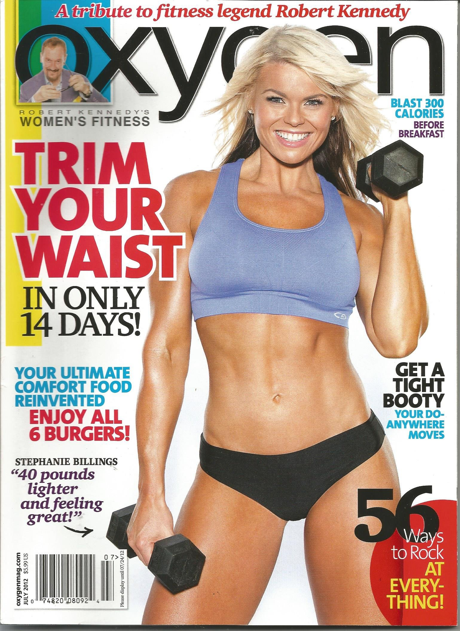 Read Online Oxygen Magazine (Stephanie Billings Cover, July 2012) pdf