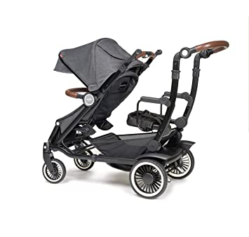 Austlen Baby Co Entourage Sit Stand Double Stroller In Black Also Available In Navy