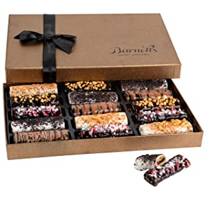 Barnett's Cookies Gourmet Chocolate Covered Hazelnut Wafers | 2021 Food Gift Birthday Baskets | Prime Holiday, Thanksgiving, Christmas & Valentines Day Gifts Delivery For Him & Her, Men & Women