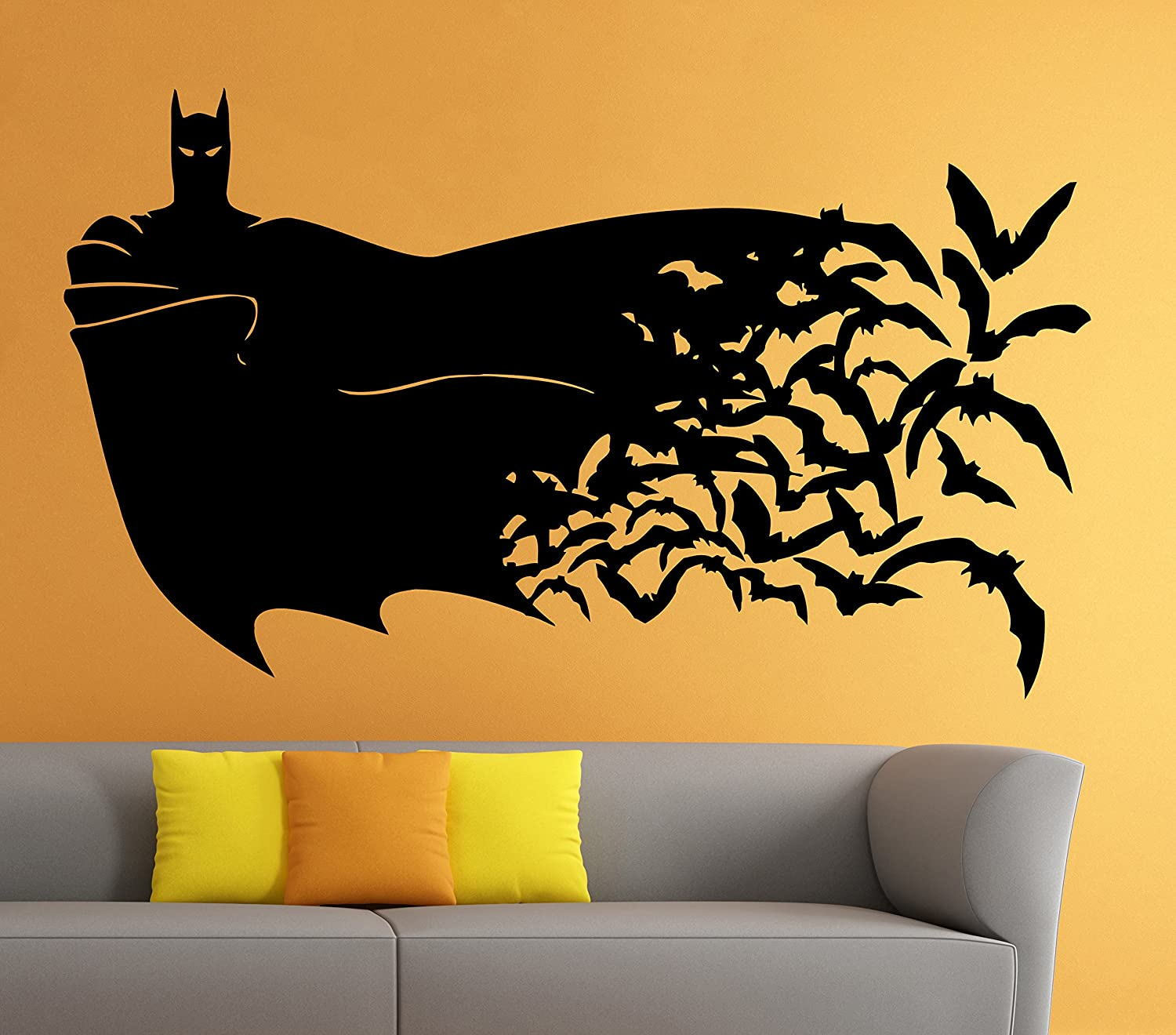 Amazon.com: Batman Wall Vinyl Decal Movie Cartoon Sticker Art Mural ...