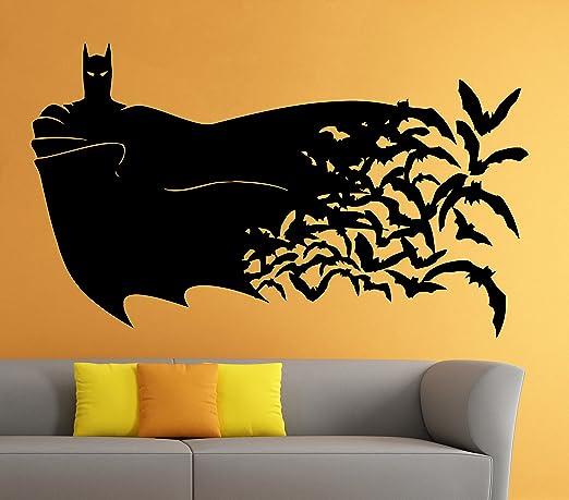 Amazon.com: Batman Wall Vinyl Decal Movie Cartoon Sticker Art Mural ...