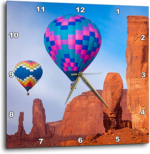 3dRose Hot Air Balloons, Monument Valley, Navajo Tribal Park, Arizona, USA. – Wall Clock, 10 by 10 DPP_210287_1