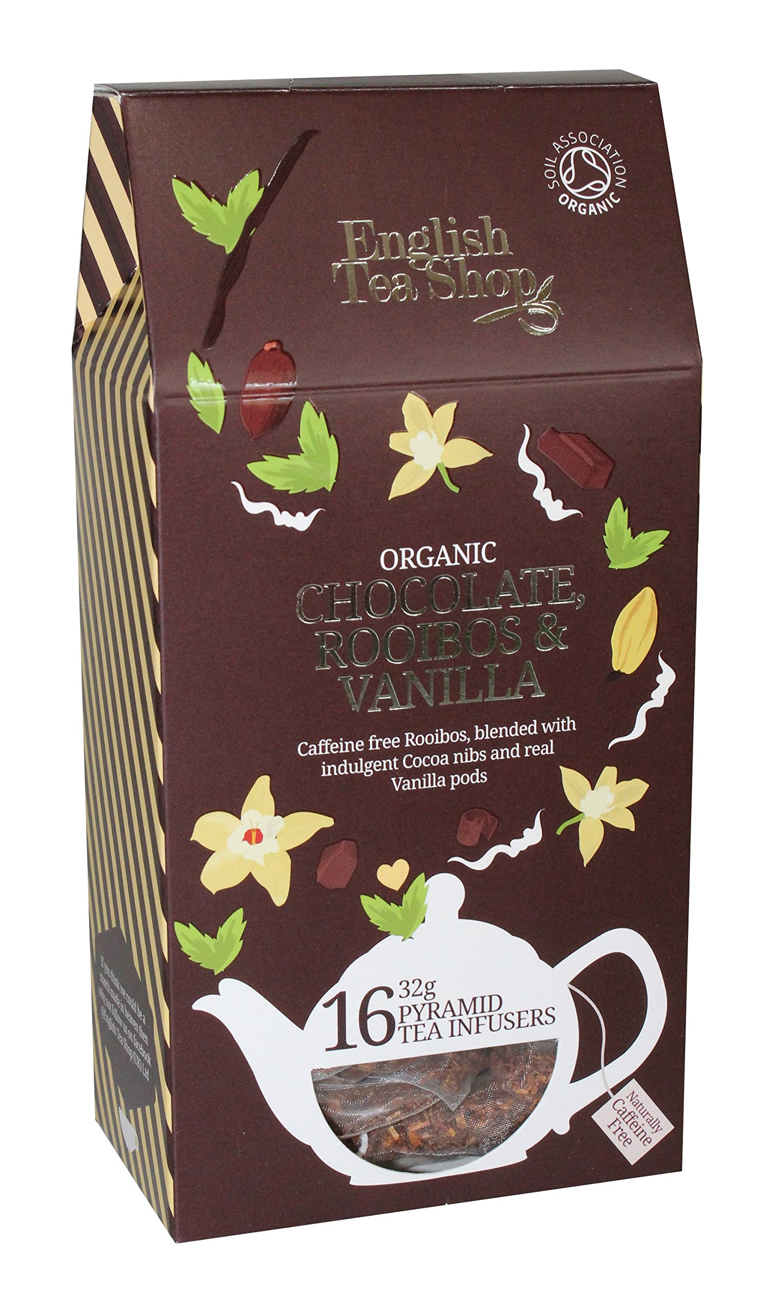 English Tea Shop Rooibos Chocolate Vanilla Pyramids, 32 Gram (Pack of 6) by English Tea Shop