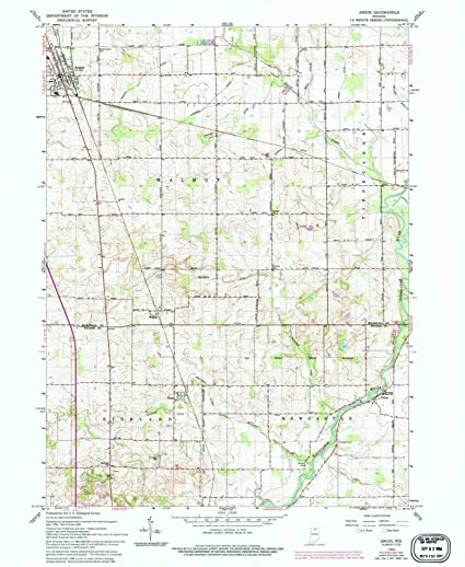 Amazon Com Historic Map Argos Indiana In 1962 Usgs