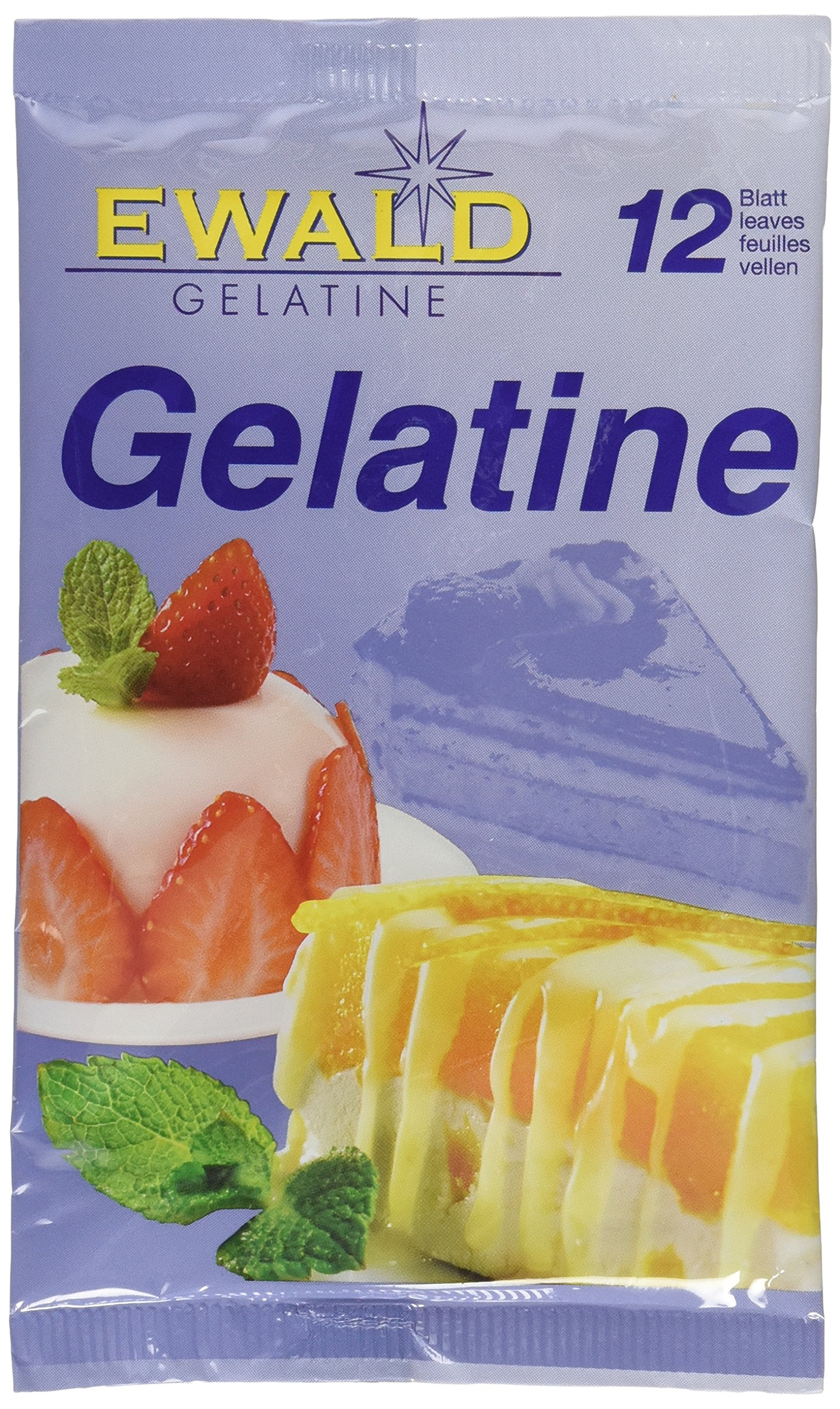 Sheet / Leaf Gelatin - 12 units envelope pack