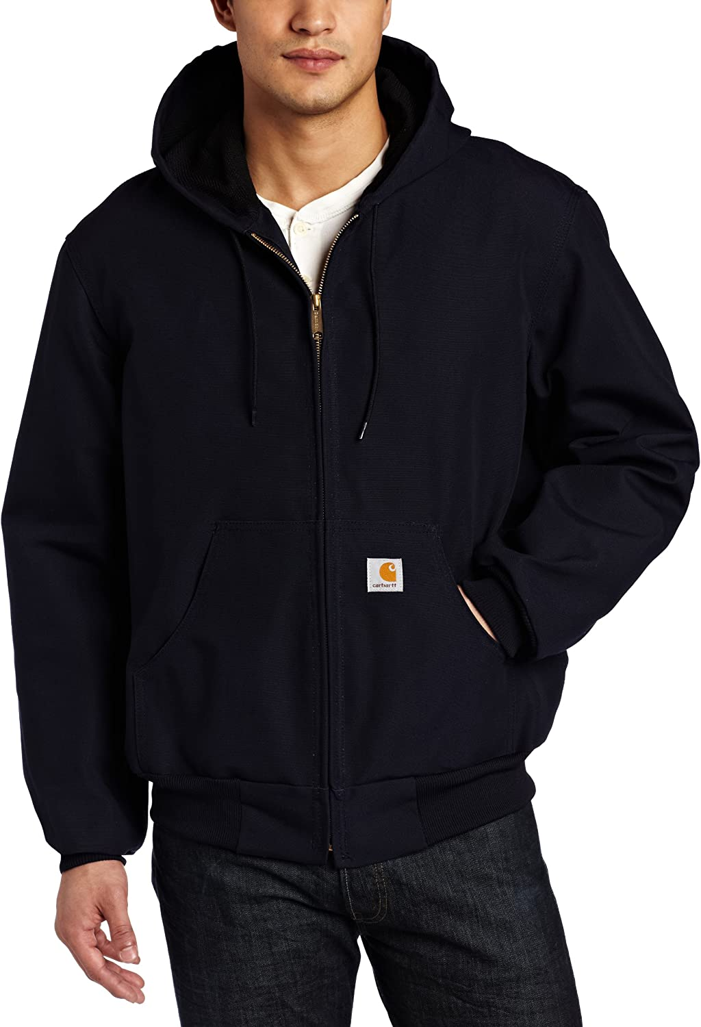 B0000WL0Y8 Carhartt Men's Big & Tall Thermal-Lined Duck Active Hoodie Jacket J131 91B5gW1QSOL