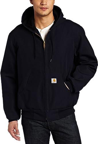 Carhartt Men's Big & Tall Thermal Lined Duck Active Hoodie Jacket J131