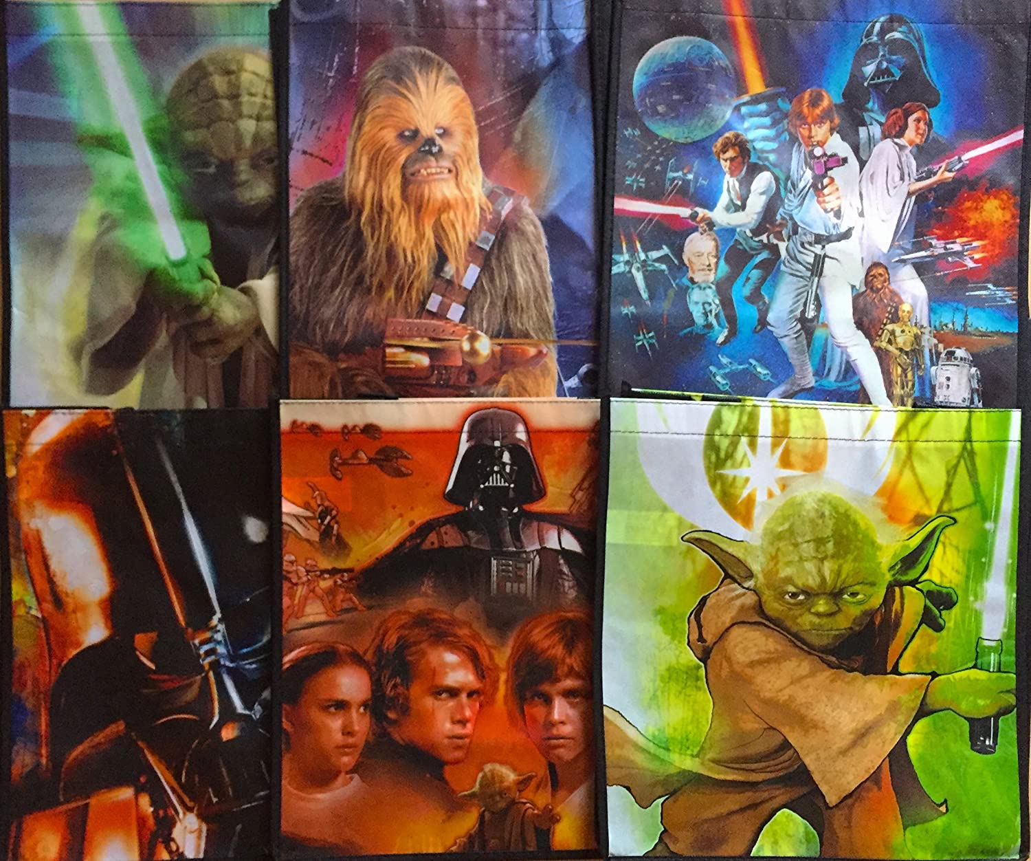 12x12 inches Party Favor Sets Star Wars The Force Awakens Tote Bags Pack Of 6