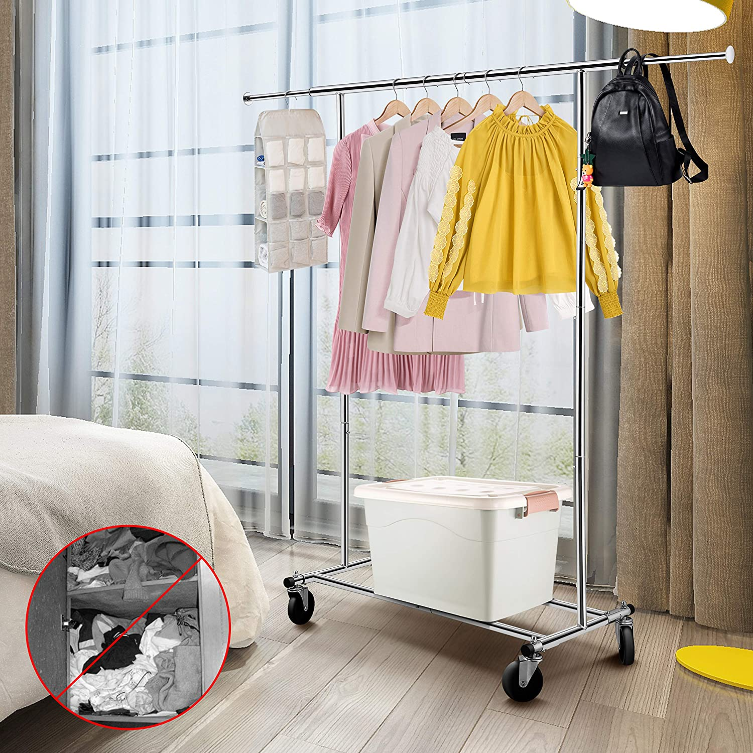 collapsible clothes rack