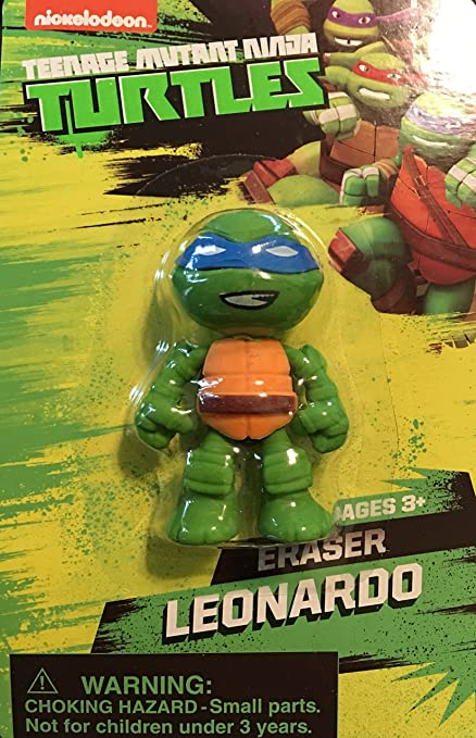 Amazon.com: 3d de las Tortugas Ninja borrador, 4 unidades ...