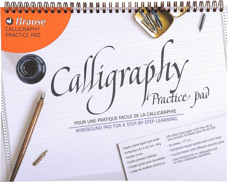 Brause 96452SB Bloc de calligraphie dapprentissage A4 allemand//n/éerlandais 29.70 x 23.10 x 0.70 cm Cr/ème