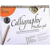 Brause 96450B Bloc de calligraphie d'apprentissage A4 - français/anglais, 29.70 x 23.10 x 0.70 cm, Crème