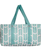 Wireframe All Purpose Large Utility Bag (Turquoise Arrow)