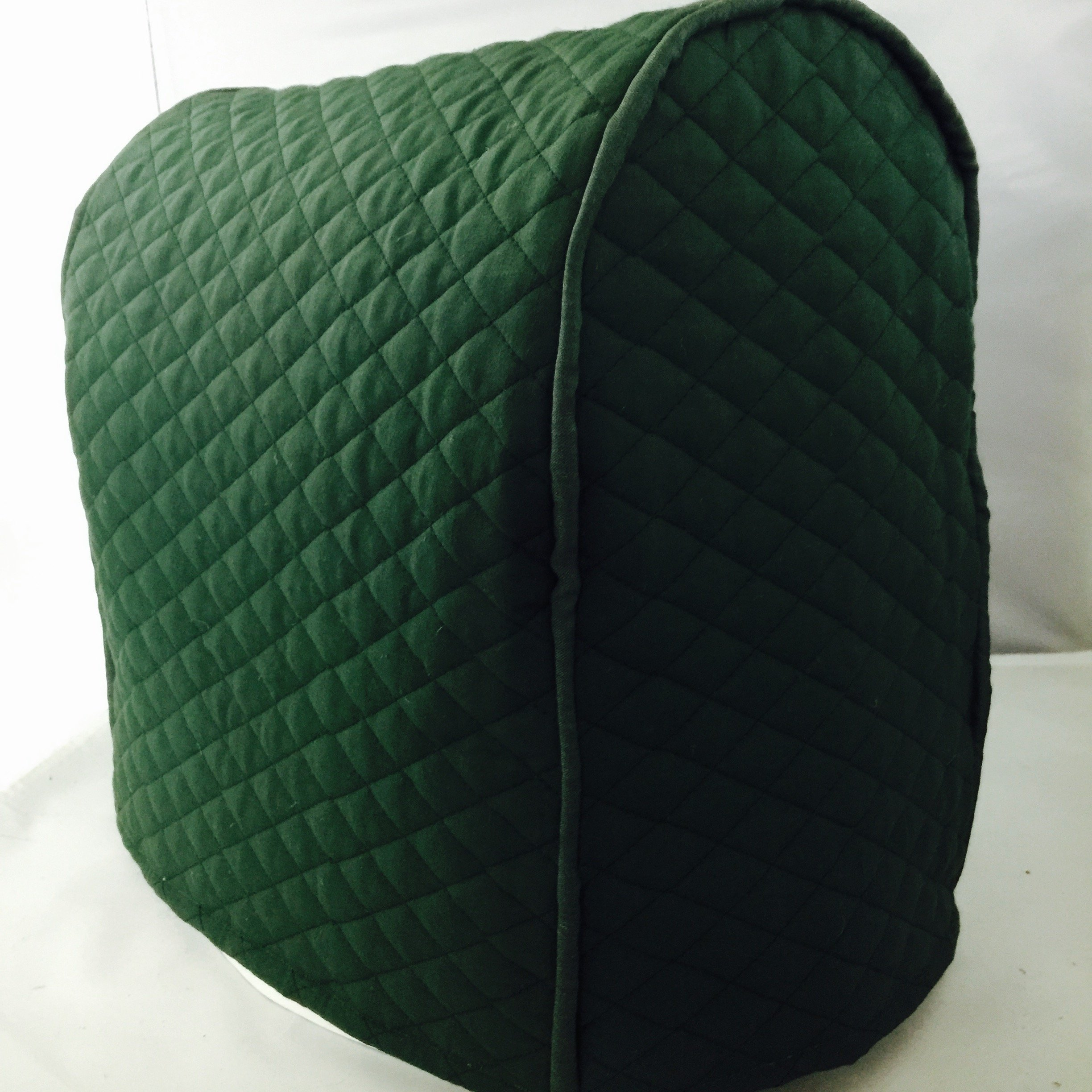 Tilt Head Kitchenaid Stand Mixer Cover / Quilted Double Faced Cotton - Hunter Green
