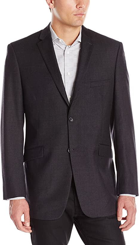 Adolfo Mens Wool and Cashmere Modern Fit Suit Jacket