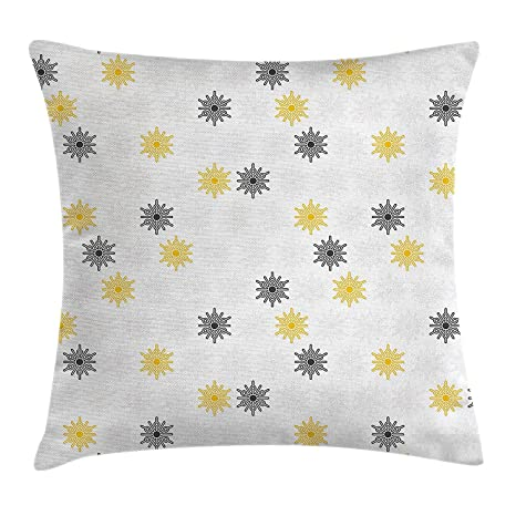 Amazon Grey And Yellow Throw Pillow Cushion Cover Moroccan Awesome Round Yellow Decorative Pillow