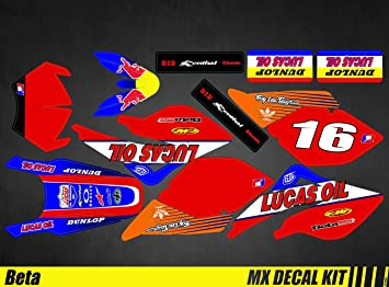 MX Calcoman/ías Kit para Beta RR 50 Kit D/éco Moto para Monstruo