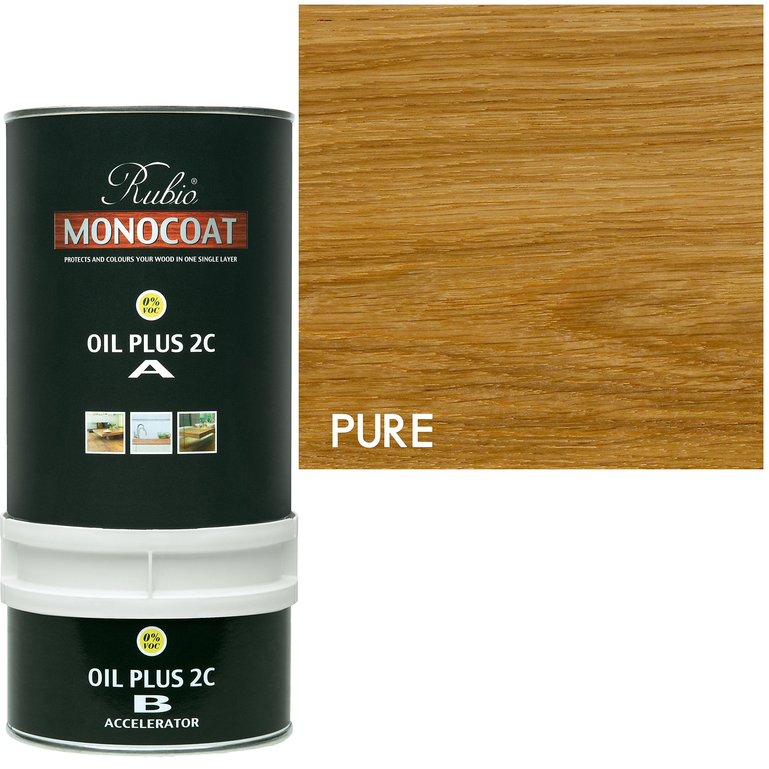Rubio Monocoat Wood Stain Oil Plus 2C Pure (Clear) 350 ml