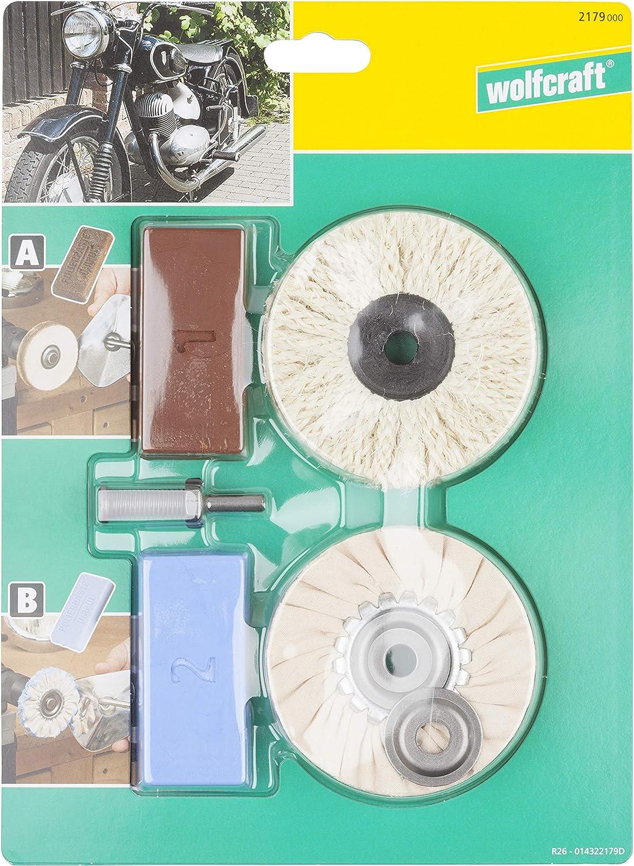 bois Abrasivi Kit de polissage de roue 9 pi/èces en coton avec disque de polissage pour bijoux m/étal aluminium