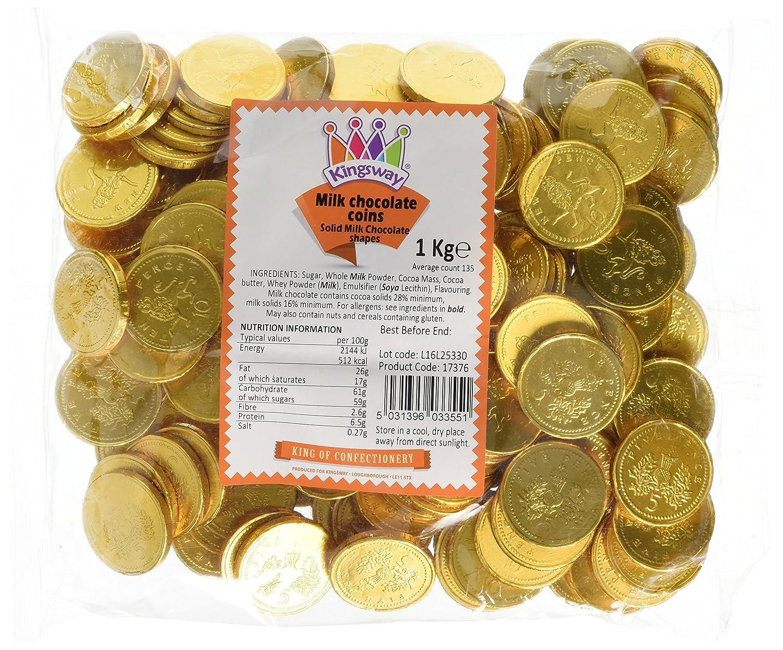 Amazon.com : Milk Chocolate Coins - 1kg bag Approx 180 coins ...
