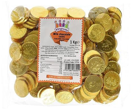 Monedas de chocolate con leche - bolsa de 1 kg Aprox. 135. Ideal para fiestas de piratas o favores de bolsas de fiesta