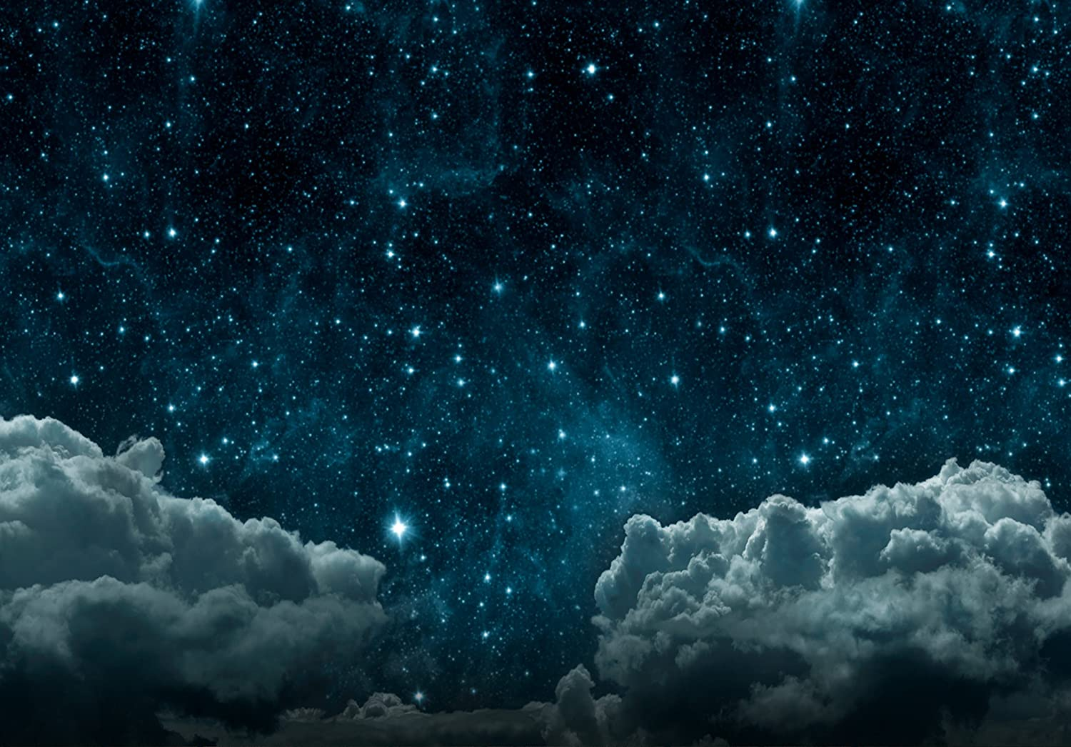 Funnytree 7x5ft Ployester Backdrop Photography Backdrops Dark Night Sky  Clouds Baby Shower Newborn Photo Studio Background Props