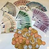 Spielgeld Set┃160 Teile: 96 Euro-Scheine und 64 Euro-Münzen┃für Kaufmannsladen, zum Rechnen und Lernen┃Einkaufsladen┃Deko┃Fast 11.000 Euro ★ NEU ★