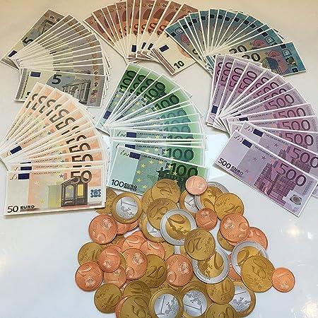 Carpeta Spielgeld Set160 Teile 96 Euro Scheine Und 64 Euro Münzen
