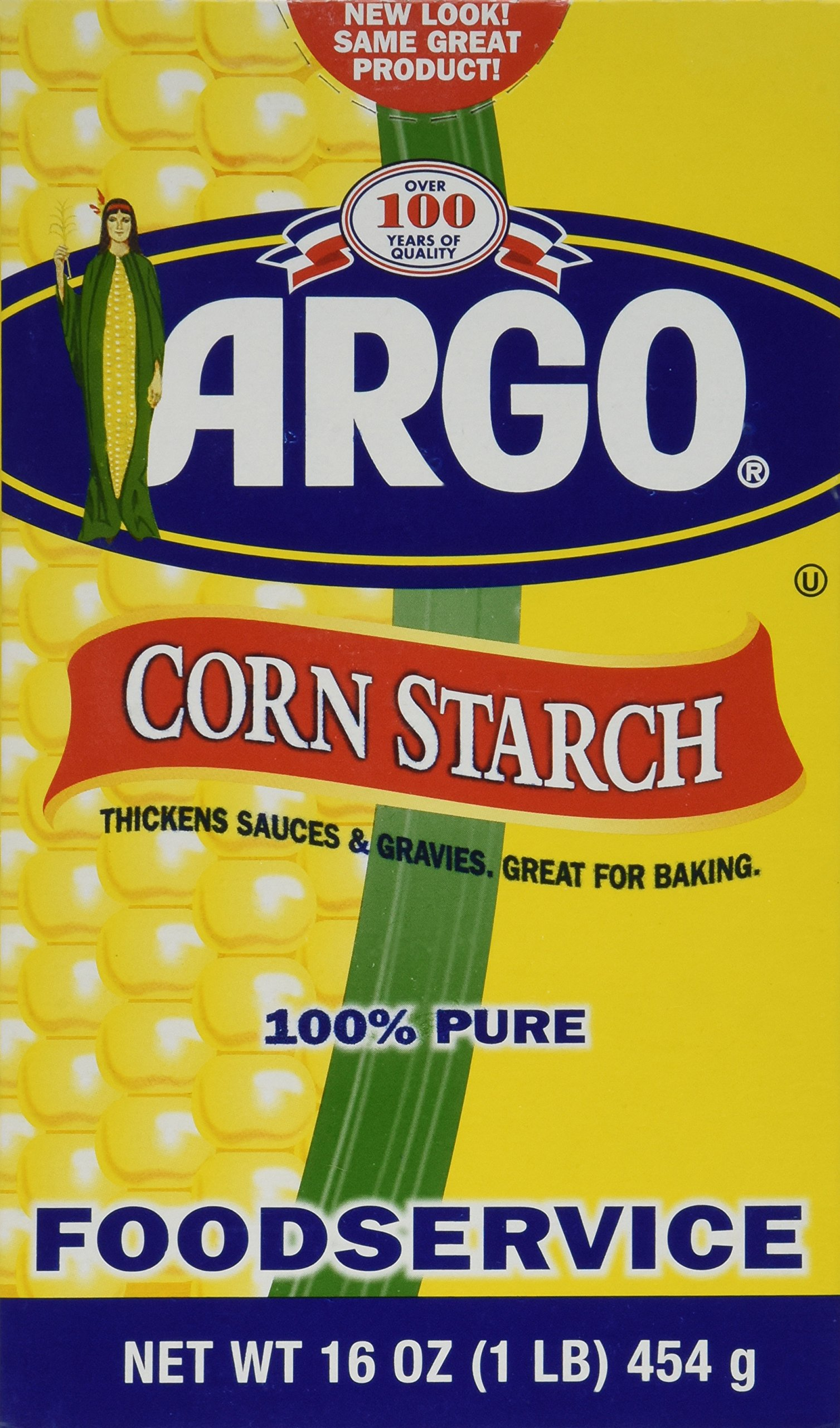 Argo Corn Starch - 16 oz. (pack of 2) 100% PURE Gluten Free