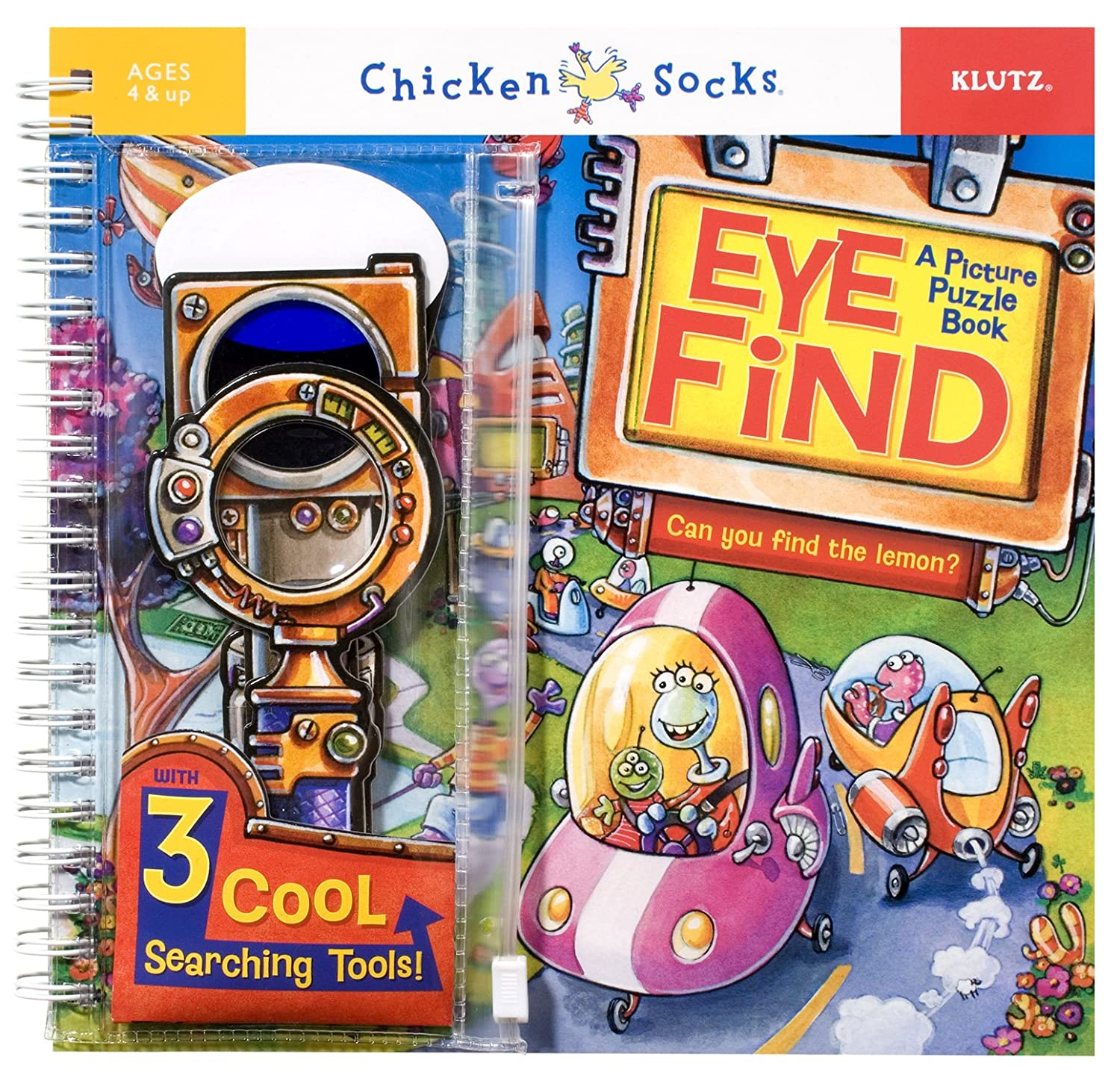 amazon com eye find a picture puzzle book chicken socks