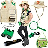 Born Toys Backyard Safari Vest and Costume with explorer kit for Outdoor,Nature,Halloween,Camping,Hiking, STEM and Scientific Dress up and Role Play