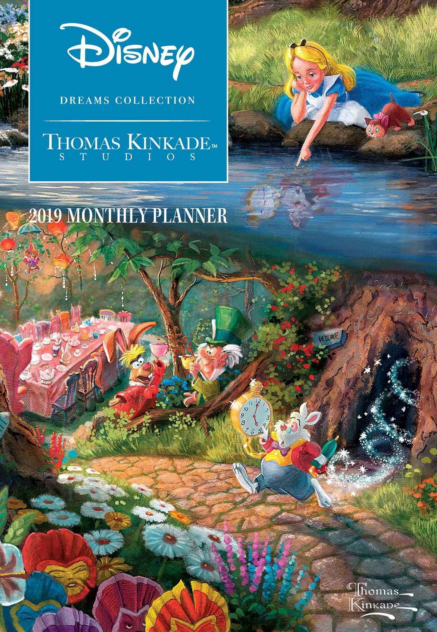 Thomas Kinkade Studios: Disney Dreams Collection 2019 Monthly Pocket Planner Cal