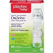 Playtex Baby Nurser Drop-Ins Baby Bottle Disposable Liners, Closer to Breastfeeding, 4 Ounce - 50 Count