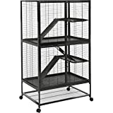 AmazonBasics Small Animal Metal Pet Cage with Wheels