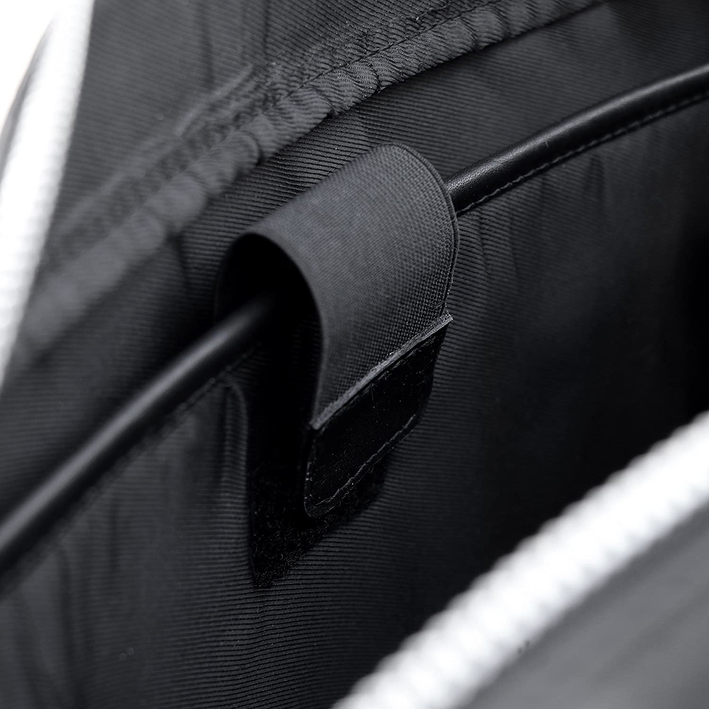 FERG/É Sacoche Ordinateur Portable Cuir v/éritable ACE 15,6 Pouces Grand Sac Porte-Document en bandouli/ère Sac Messager Etudiante Travail Noir