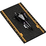 Hot Wings SR-71 Blackbird (with Drone) with Connectible Runway Die Cast Model Airplane, Black