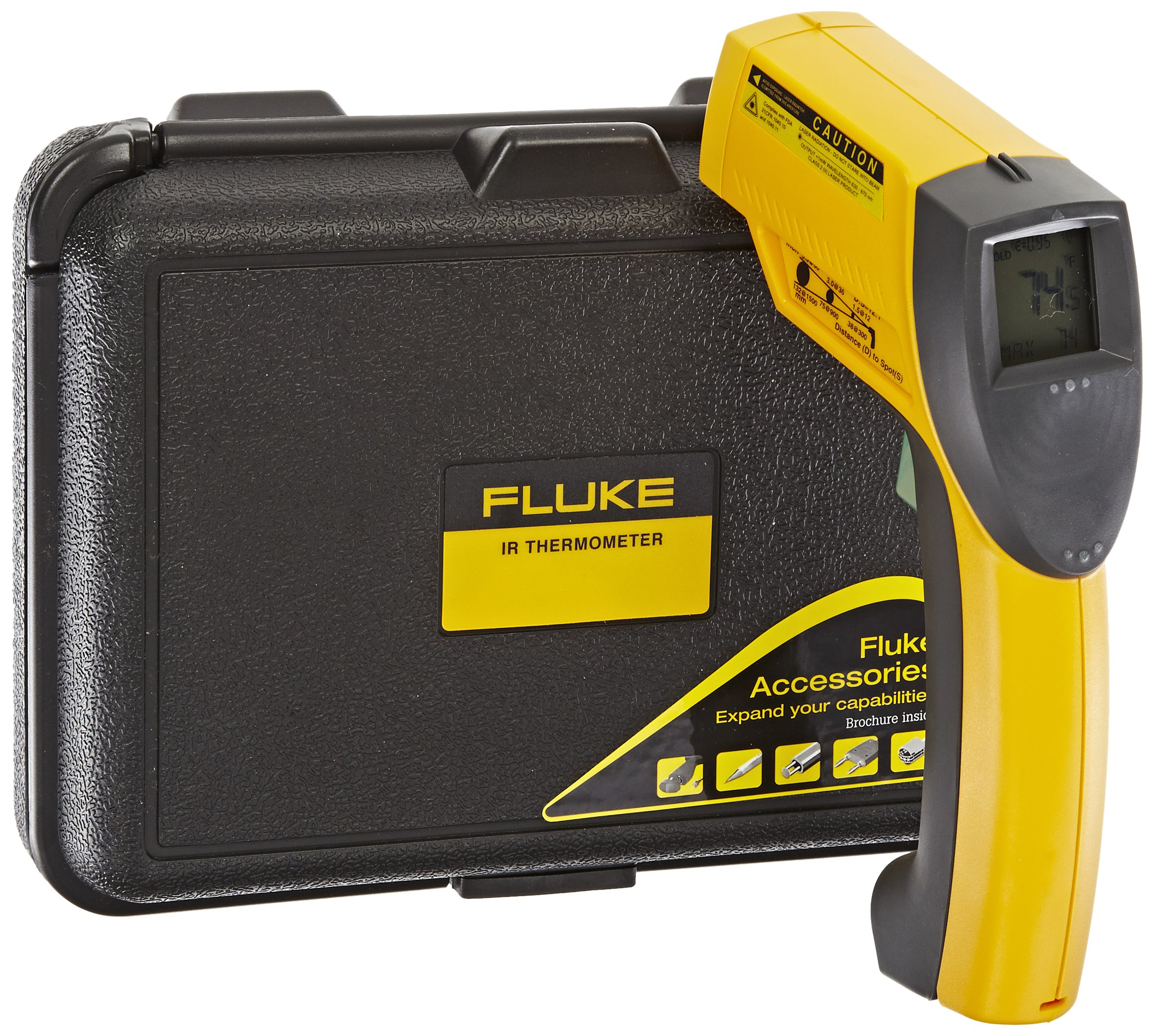 Fluke 63 Handheld Infrared Thermometer, 9V Alkaline Battery, -25 to +999 Degree F Range by Fluke