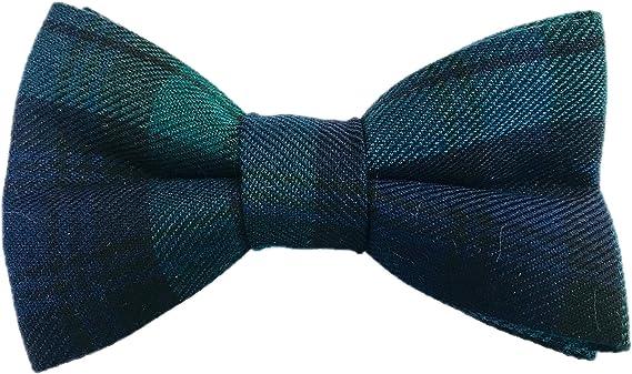 Matching Pocket Square Blackwatch Tartan Bow Tie Burns Night Bow Tie Check Bow Tie
